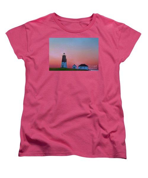 Women's T-Shirt (Standard Cut) featuring the photograph  Lighthouse At Sunrise by Juli Scalzi