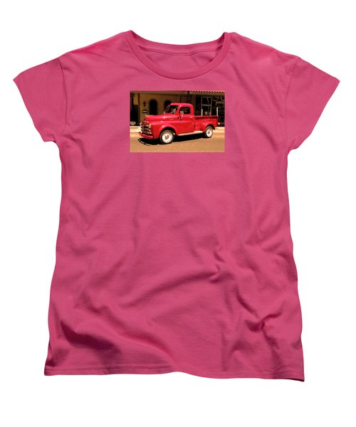 Lil Red Truck On A Dusty Street Women's T-Shirt (Standard Cut) by Spyder Webb