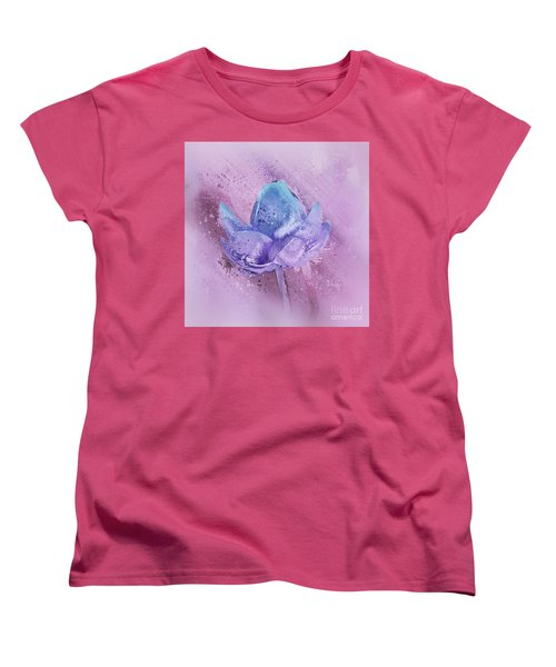 Women's T-Shirt (Standard Cut) featuring the digital art Lily My Lovely - S113sqc77 by Variance Collections
