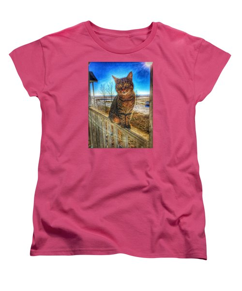Women's T-Shirt (Standard Cut) featuring the photograph Lily Of The Farm by Jame Hayes