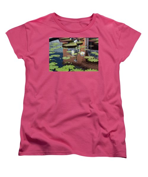 Lily Pond Reflections Women's T-Shirt (Standard Cut) by Suzanne Gaff