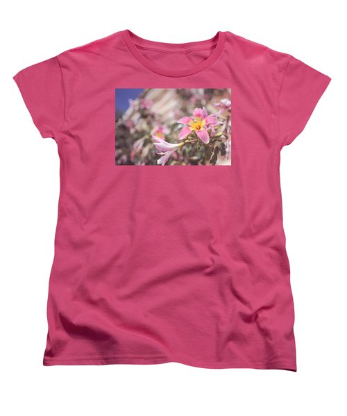 Women's T-Shirt (Standard Cut) featuring the photograph Lily Tree. Flowers Of Malaga by Jenny Rainbow
