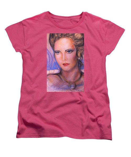 Women's T-Shirt (Standard Cut) featuring the pastel Linda Carter by Denise Fulmer
