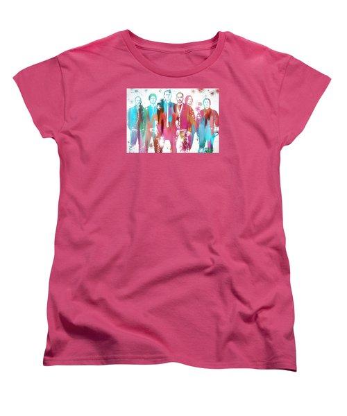 Linkin Park Watercolor Paint Splatter Women's T-Shirt (Standard Cut) by Dan Sproul