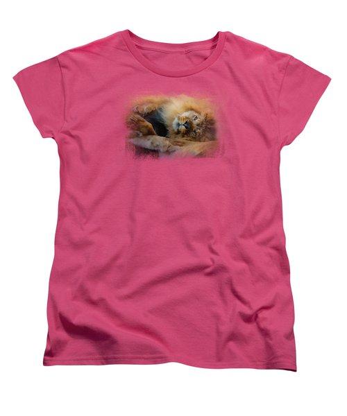 Lion Love 2 Women's T-Shirt (Standard Cut) by Jai Johnson