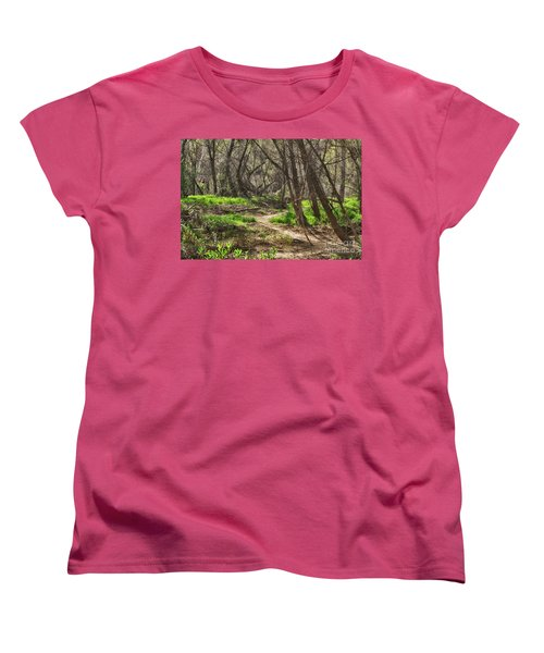 Lion Trail At Hassayampa Nature Reserve Women's T-Shirt (Standard Cut) by Anne Rodkin