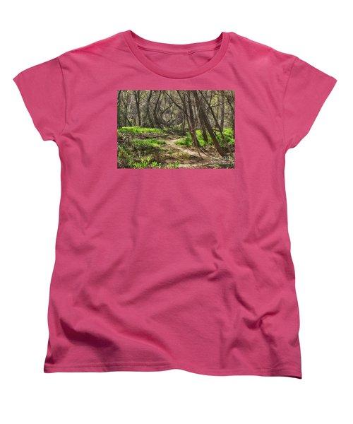 Lion Trail At Hassayampa Nature Reserve Women's T-Shirt (Standard Cut) by Anne Rodkin