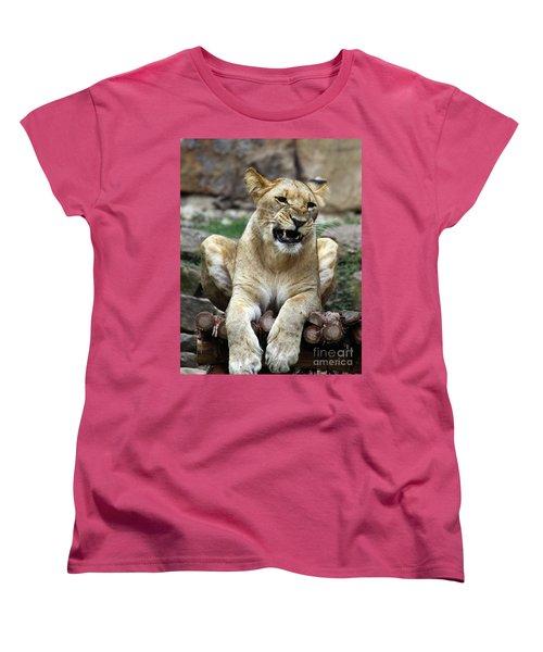 Lioness 2 Women's T-Shirt (Standard Cut) by Inspirational Photo Creations Audrey Woods