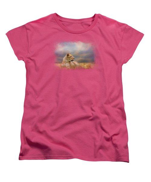 Lioness After The Storm Women's T-Shirt (Standard Cut) by Jai Johnson