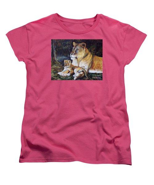 Lioness And Cub Women's T-Shirt (Standard Cut) by Ruanna Sion Shadd a'Dann'l Yoder