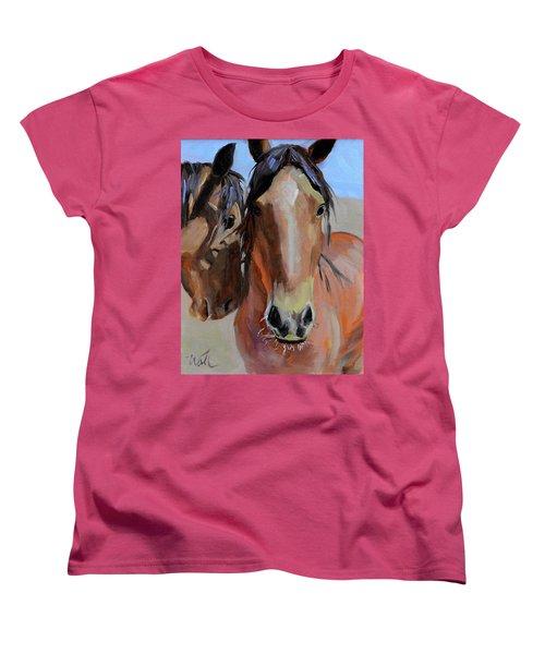 Women's T-Shirt (Standard Cut) featuring the painting Litchfield Homies by Pattie Wall
