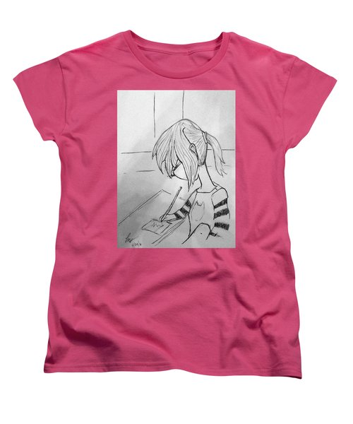 Little Artist Women's T-Shirt (Standard Cut) by Loretta Nash