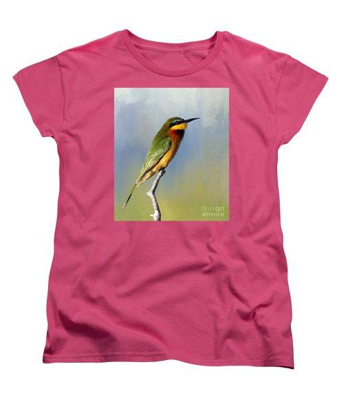 Women's T-Shirt (Standard Cut) featuring the photograph Little Bee-eater by Myrna Bradshaw