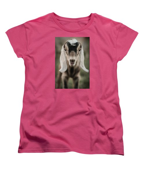 Women's T-Shirt (Standard Cut) featuring the photograph Little Goat In Color by Kelly Hazel