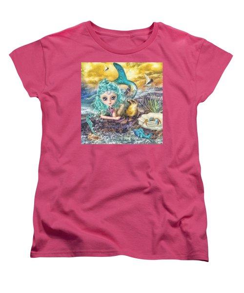 Little Mermaid Women's T-Shirt (Standard Cut) by Mo T