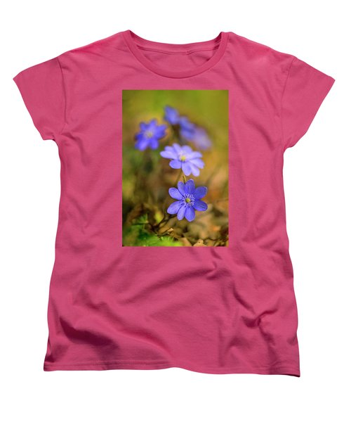 Women's T-Shirt (Standard Cut) featuring the photograph Liverworts In The Afternoon Sunlight by Jaroslaw Blaminsky