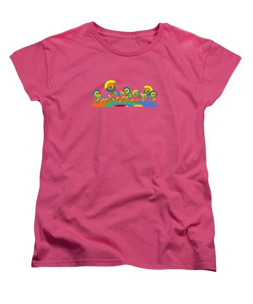 Lollypop Island Women's T-Shirt (Standard Cut) by Anastasiya Malakhova