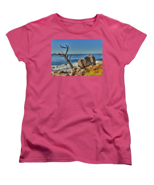 Lone Tree California Coast Women's T-Shirt (Standard Cut) by James Hammond