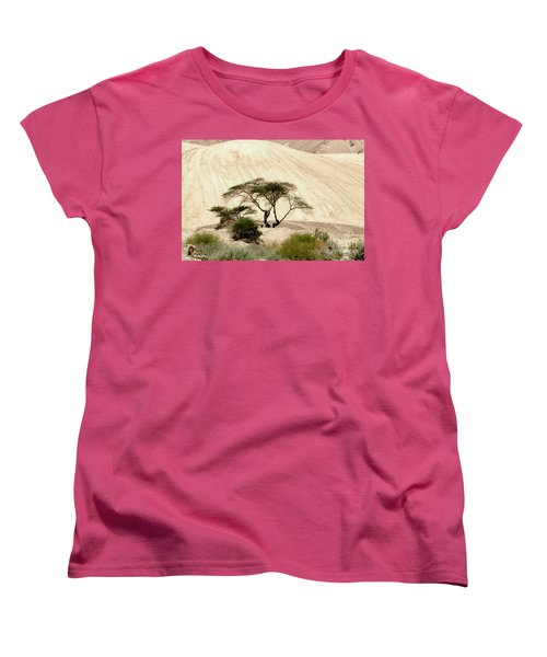 Women's T-Shirt (Standard Cut) featuring the photograph Lonely Tree by Arik Baltinester
