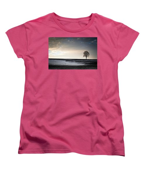 Women's T-Shirt (Standard Cut) featuring the photograph Lonesome Tree On A Hill IIi by David Sutton