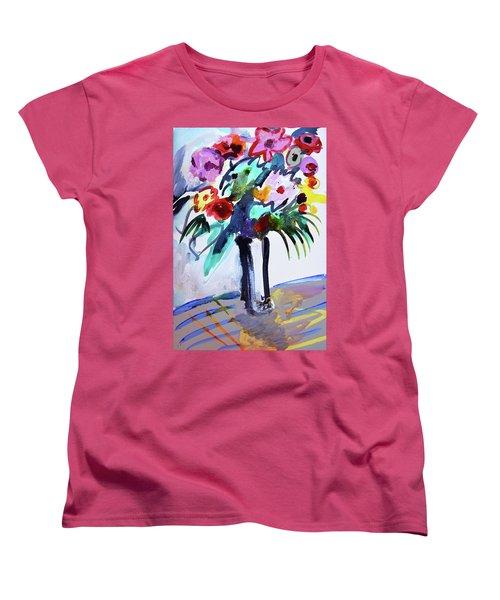 Long Vase Of Red Flowers Women's T-Shirt (Standard Cut)