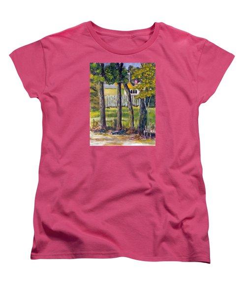 Looking Into Brenn Marr Women's T-Shirt (Standard Cut) by Jim Phillips