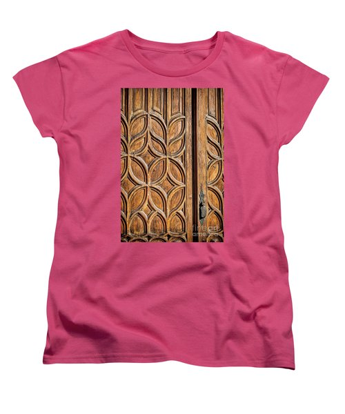 Women's T-Shirt (Standard Cut) featuring the photograph Loretto Doorway by Gina Savage