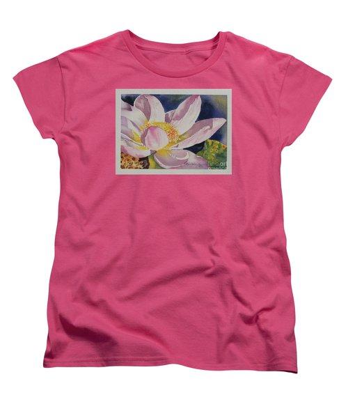 Lotus Bloom Women's T-Shirt (Standard Cut) by Mary Haley-Rocks