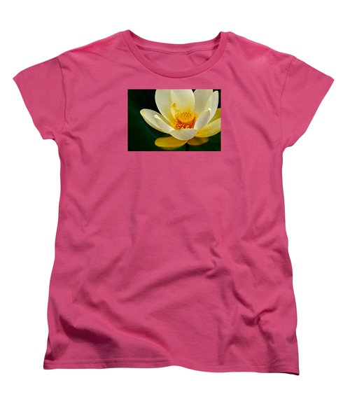Women's T-Shirt (Standard Cut) featuring the photograph Lotus Blossom by Tyson and Kathy Smith