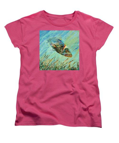 Louisiana Speckled Women's T-Shirt (Standard Cut) by Dianne Parks