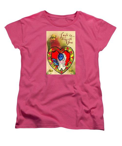 Love Is Women's T-Shirt (Standard Cut) by Diana Boyd