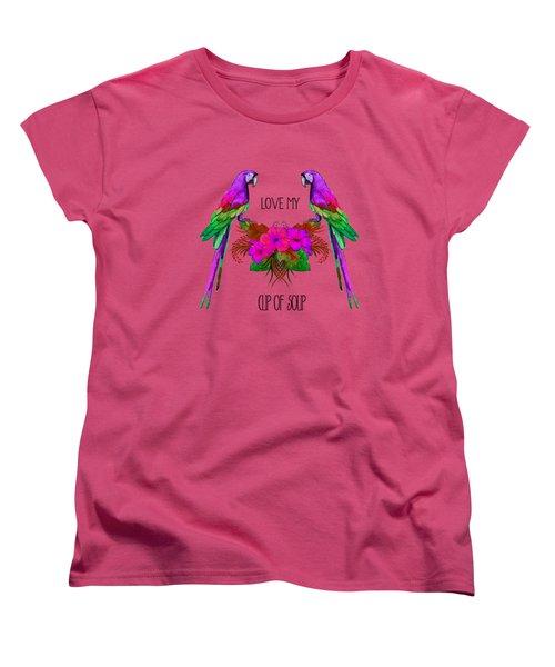 Love My Cup Of Soup Women's T-Shirt (Standard Cut)