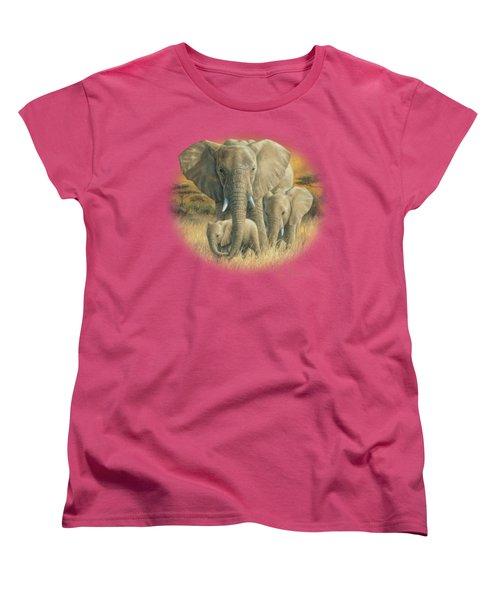 Loving Mother Women's T-Shirt (Standard Cut) by Lucie Bilodeau