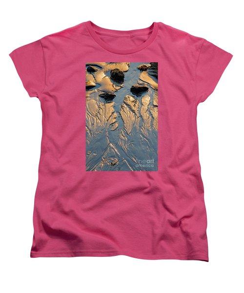 Women's T-Shirt (Standard Cut) featuring the photograph Low Tide Flow, Kettle Cove, Cape Elizabeth, Maine  -66557 by John Bald