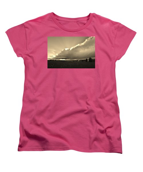 Low-topped Supercell Black And White  Women's T-Shirt (Standard Cut) by Ed Sweeney