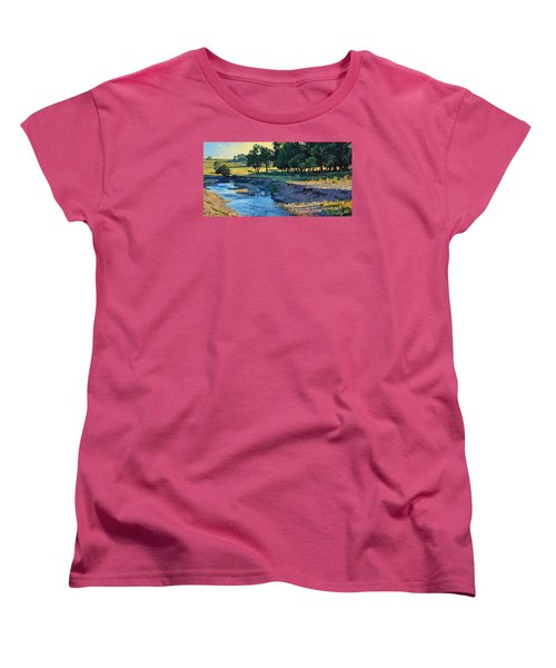 Low Water Morning Women's T-Shirt (Standard Cut) by Bruce Morrison
