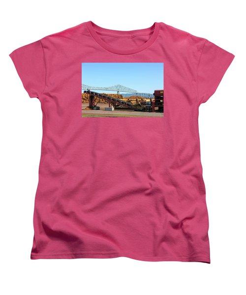 Lumber Mill Machinery In Rainier Oregon Women's T-Shirt (Standard Fit)