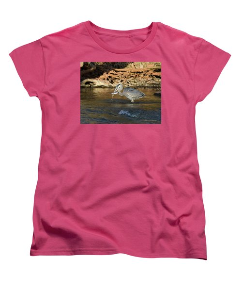Women's T-Shirt (Standard Cut) featuring the photograph Lunch On The Neuse River by George Randy Bass