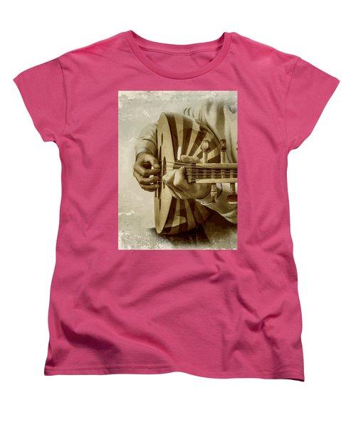 Grey Lutenist Women's T-Shirt (Standard Cut) by Moustafa Al Hatter