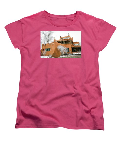 Women's T-Shirt (Standard Cut) featuring the photograph Mabel Luhan Dodge House 1 by Marilyn Hunt