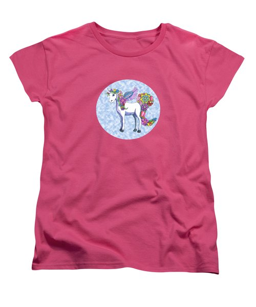 Madeline The Magic Unicorn 2 Women's T-Shirt (Standard Cut) by Shelley Wallace Ylst