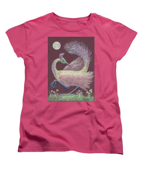 Magic Moon Dance Women's T-Shirt (Standard Cut) by Charles Cater