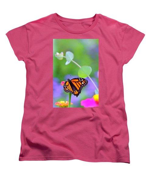 Women's T-Shirt (Standard Cut) featuring the photograph Magical Monarch by Byron Varvarigos