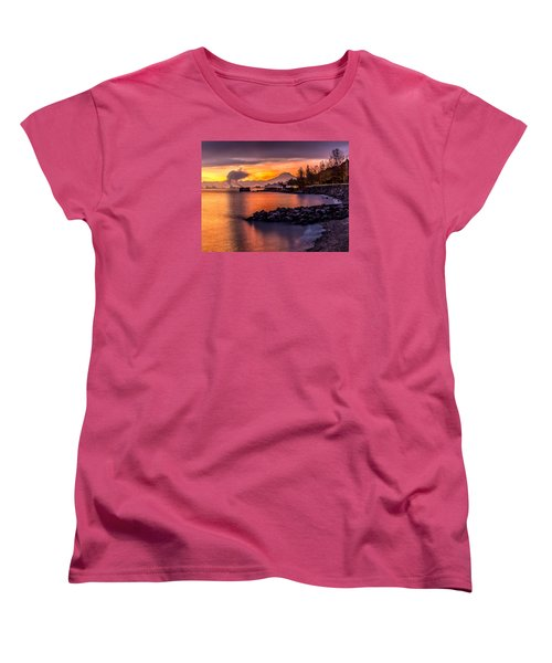 Magical Sunrise On Commencement Bay Women's T-Shirt (Standard Cut) by Rob Green