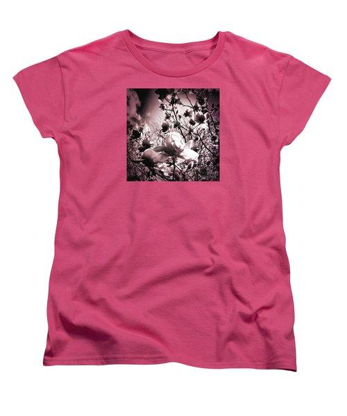 Magnolia Pink Women's T-Shirt (Standard Cut) by Karen Lewis