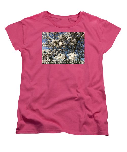 Women's T-Shirt (Standard Cut) featuring the photograph Magnolia Tree In Blossom by Patricia Hofmeester