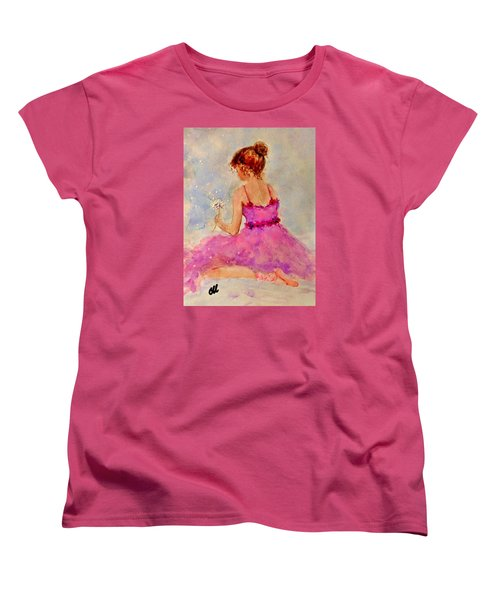Women's T-Shirt (Standard Cut) featuring the painting Make A Wish..16 by Cristina Mihailescu