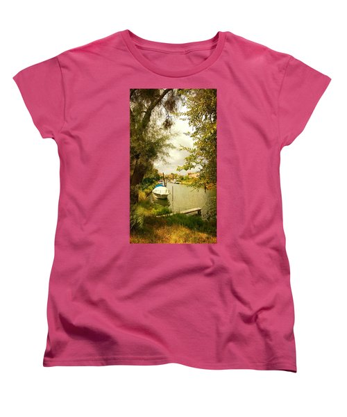 Women's T-Shirt (Standard Cut) featuring the photograph Malamocco Canal No1 by Anne Kotan