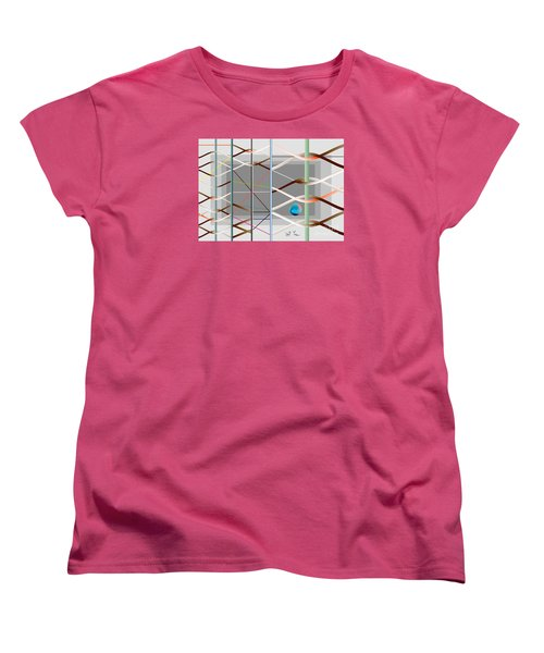 Women's T-Shirt (Standard Cut) featuring the digital art Male And Female Logic by Leo Symon