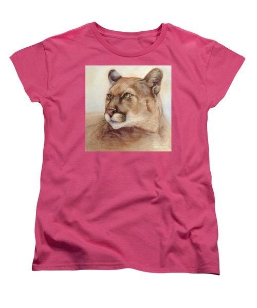 Male Cougar Women's T-Shirt (Standard Cut) by Bonnie Rinier
